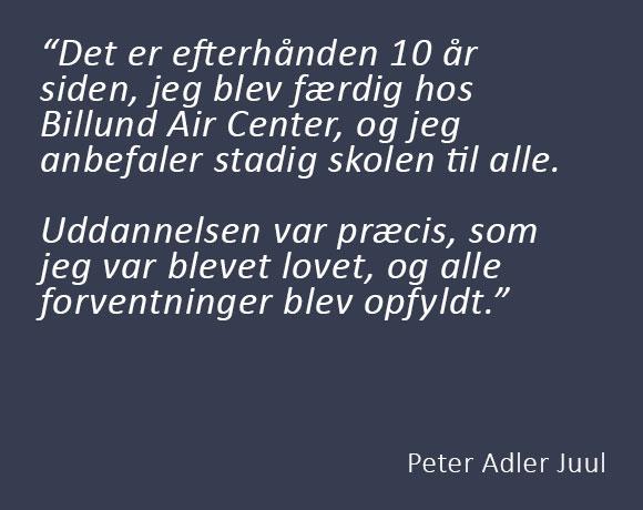 Peter Adler Juul – tidligere BAC-elev
