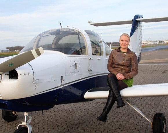Tine Lyhne Bonde – pilotelev